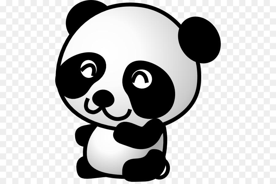 Oso Panda Gigante Roja Panda De Dibujos Animados Clip Art
