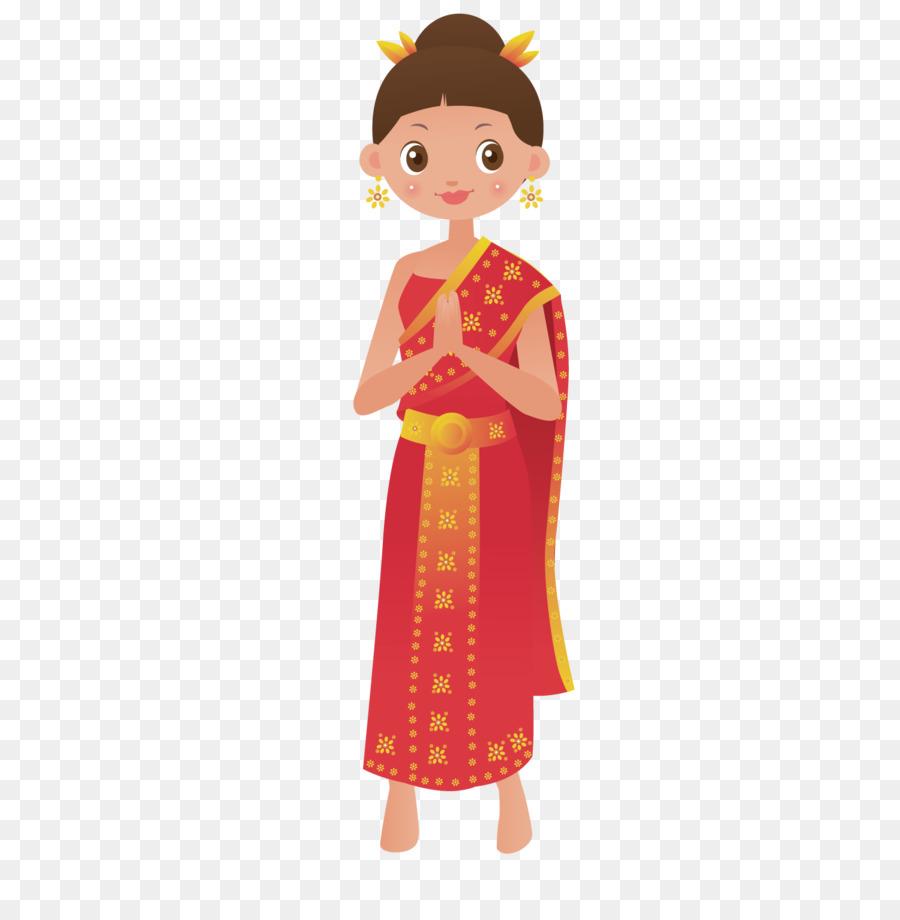 Temple Coreldraw Clip Art Thai Woman Png Download 15001501
