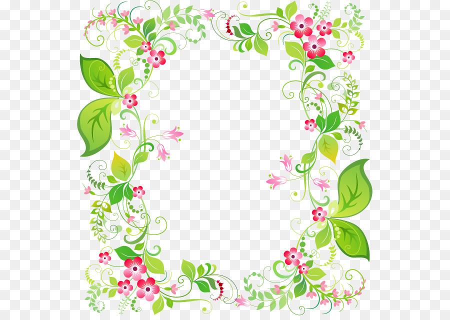 Marco de imagen de la Flor de Clip art - Primavera fresca guirnalda ...