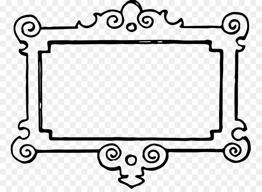 Borders and Frames Picture frame Black and white Clip art - Floral ...