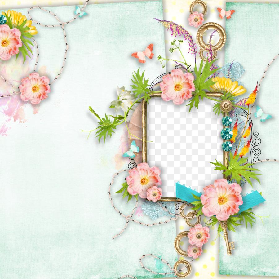 Diseño Floral del marco de la Imagen de la Flor - Creativo de la ...