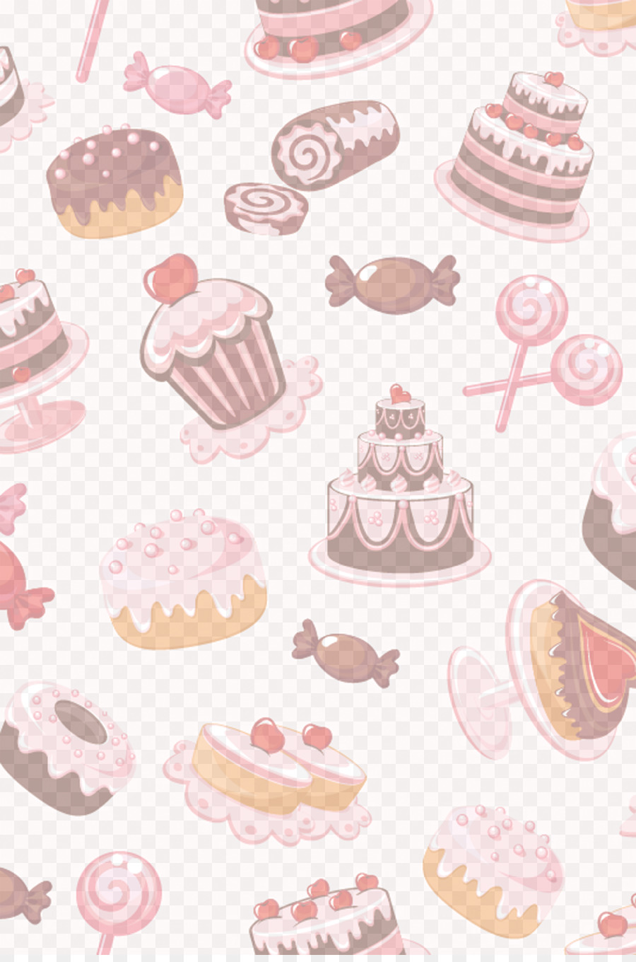 Muffin Dessert Cake Candy Cake Background Png Download