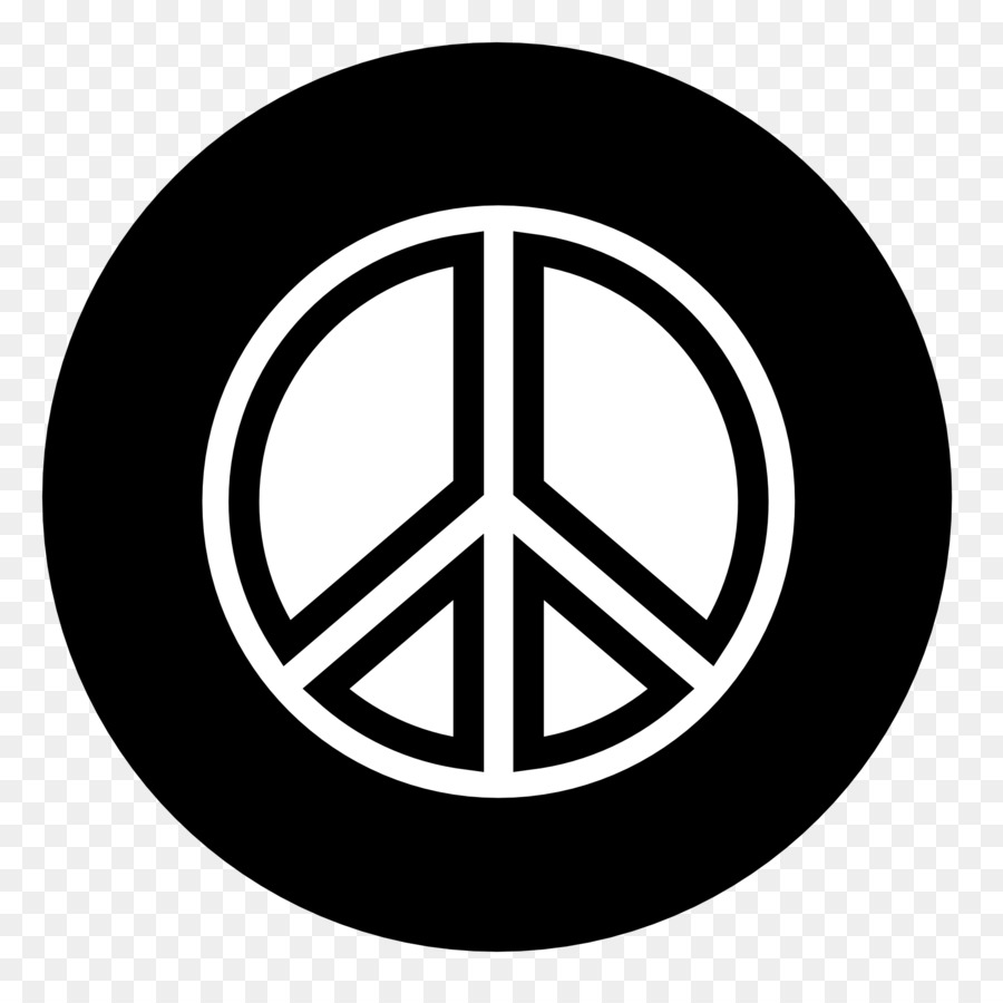 Peace Symbols Black And White Coloring Book Clip Art Peace Sighn