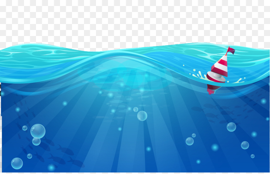 cartoon sea wind wave - blue wave png download - 1001 640