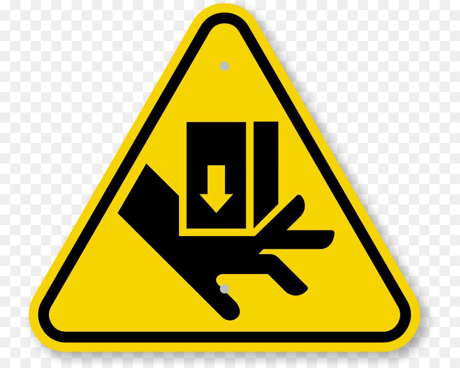 Hazard Symbol Warning Sign Warning Label Pinch Point Cliparts Png