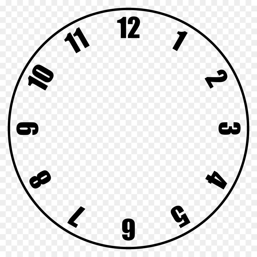 Clock Face Template | Clock Face Template Clip Art Clock Templates Png Download 3000