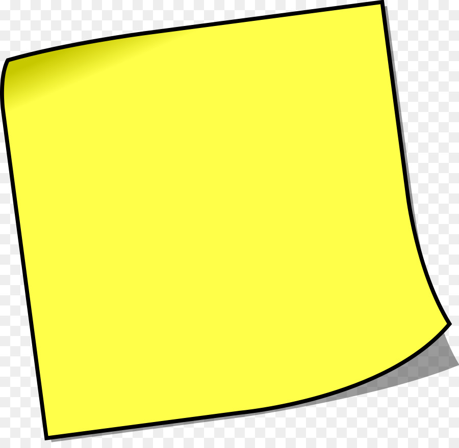 Post-it note Paper Royalty-free Clip art - Yellow Square ...