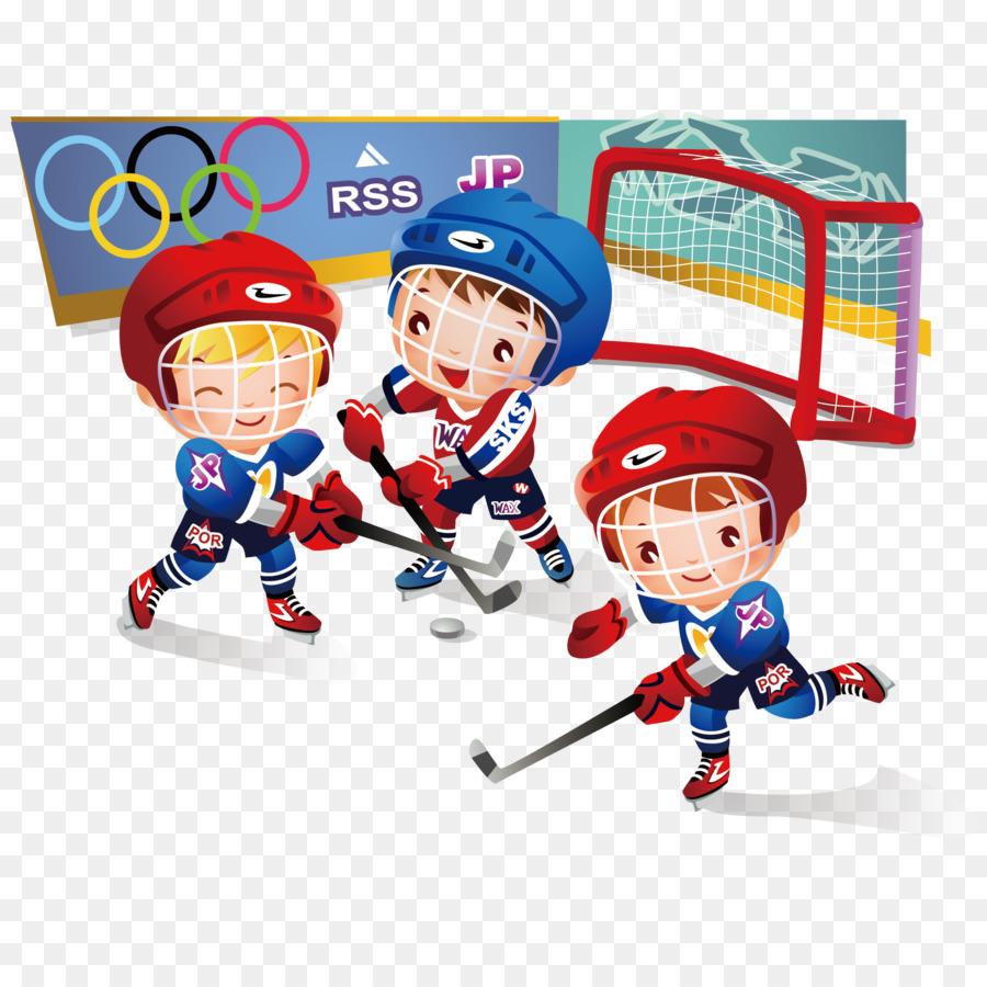 Children S Hockey Vector Material Cartoon Png Download 1667 1667