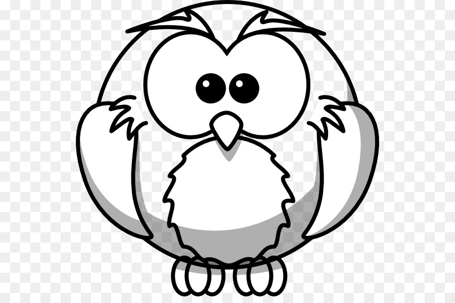 Snowy owl Drawing Outline Clip art Animal Outline Drawings png