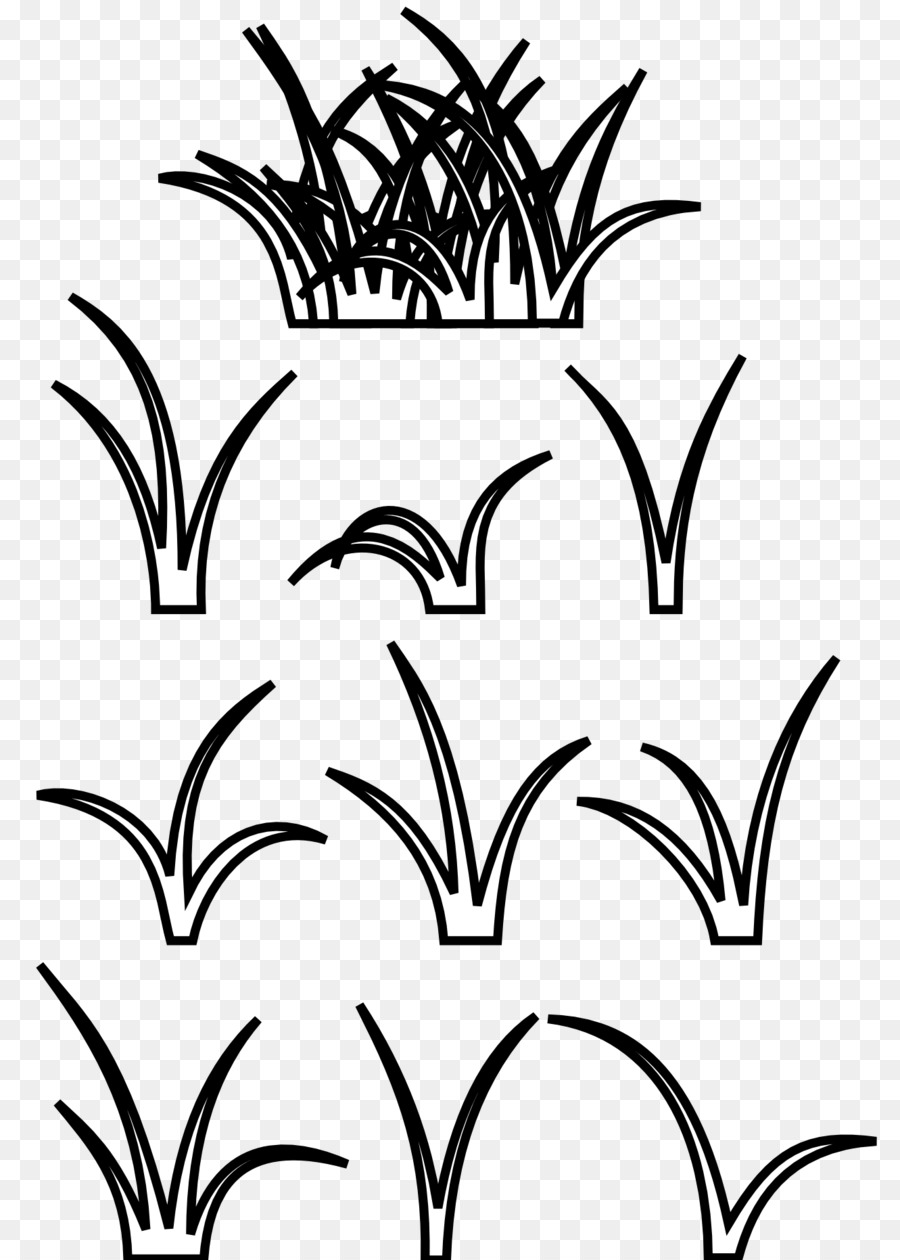 Black And White Clip Art Cartoon Grass Panda Clipart Png Download