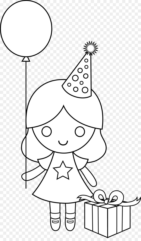 Cumpleaños de Dibujo para Colorear libro Clip art - Imágenes De ...