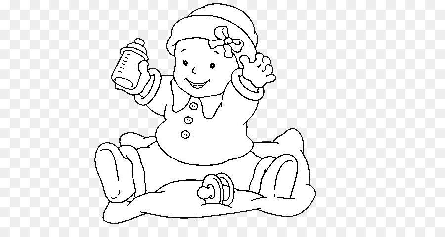 Libro para colorear de Bebé Niño - Figura de palo bebé png dibujo ...