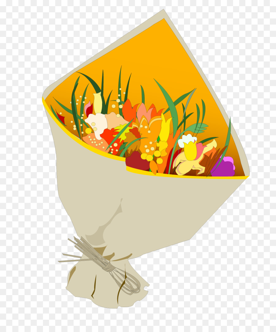 Gift Flower Bouquet Valentines Day Wrapped Bouquet Of Flowers Png
