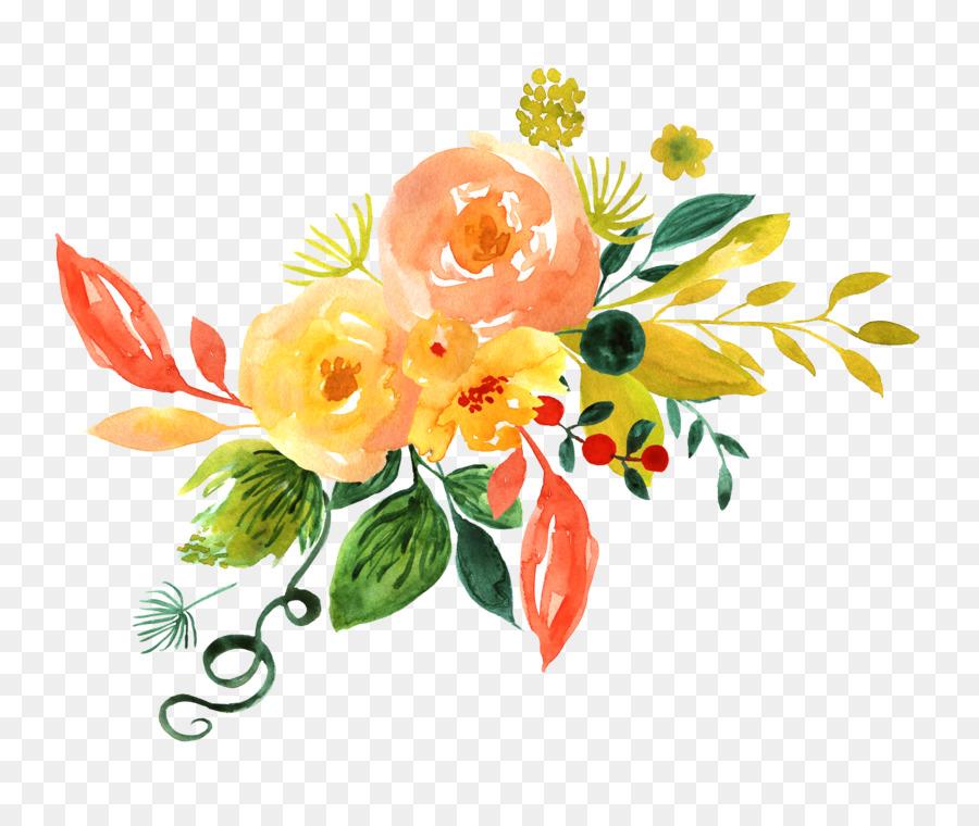 Watercolor Painting Floral Design Adobe Illustrator Clip Art