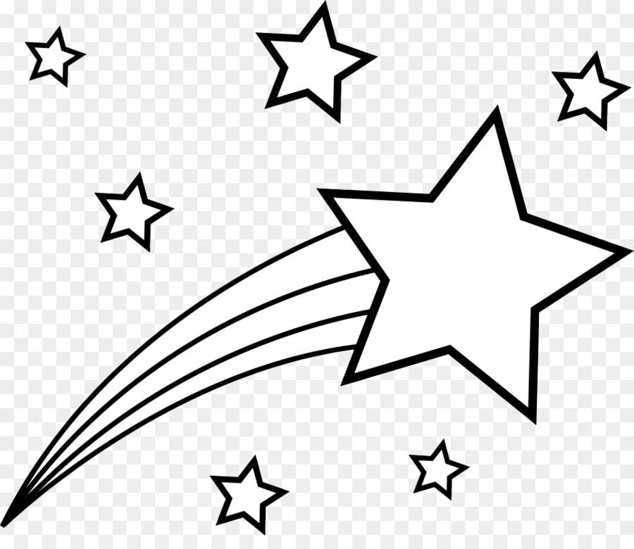 Coloring book star drawing clip art shooting star coloring pages