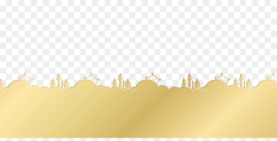 paper yellow wallpaper golden castle ferris wheel decorative border