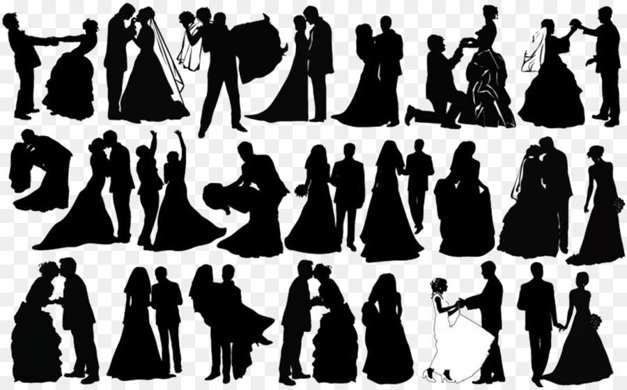 Silhouette Brautpaar Clip Art Schwarze Und Weisse Hochzeit Paare