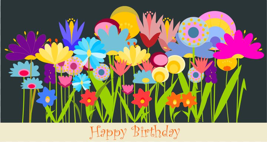 Birthday Flower Greeting Card Wish Clip Art