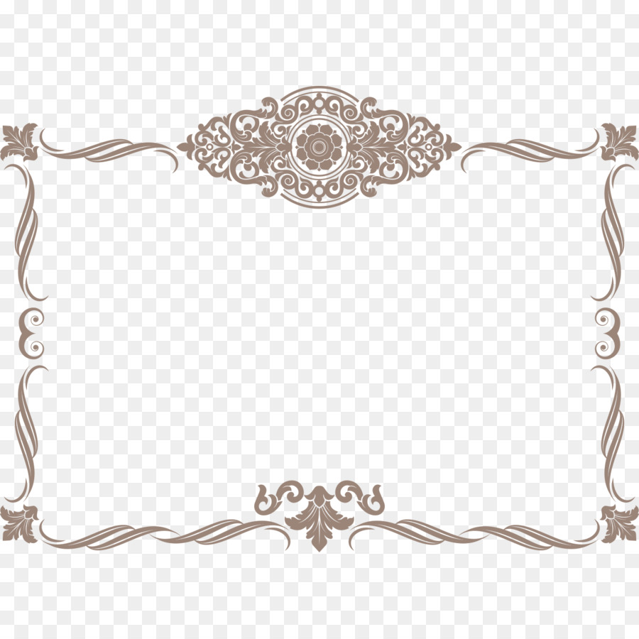 Template Academic certificate - Vintage lace border material png ...