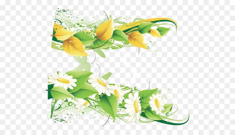 paper flower green postcard chrysanthemum leaves vector