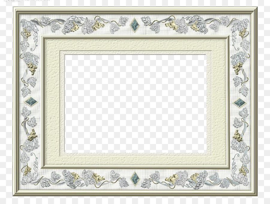 Silver Picture frame Gold Copper Pattern - Silver Frame png download ...