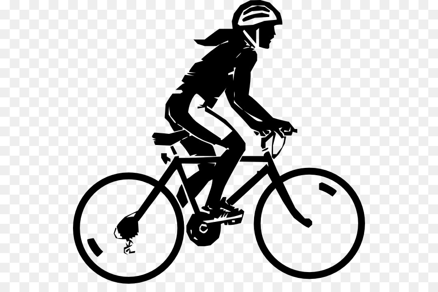 Riding Bikes Clipart