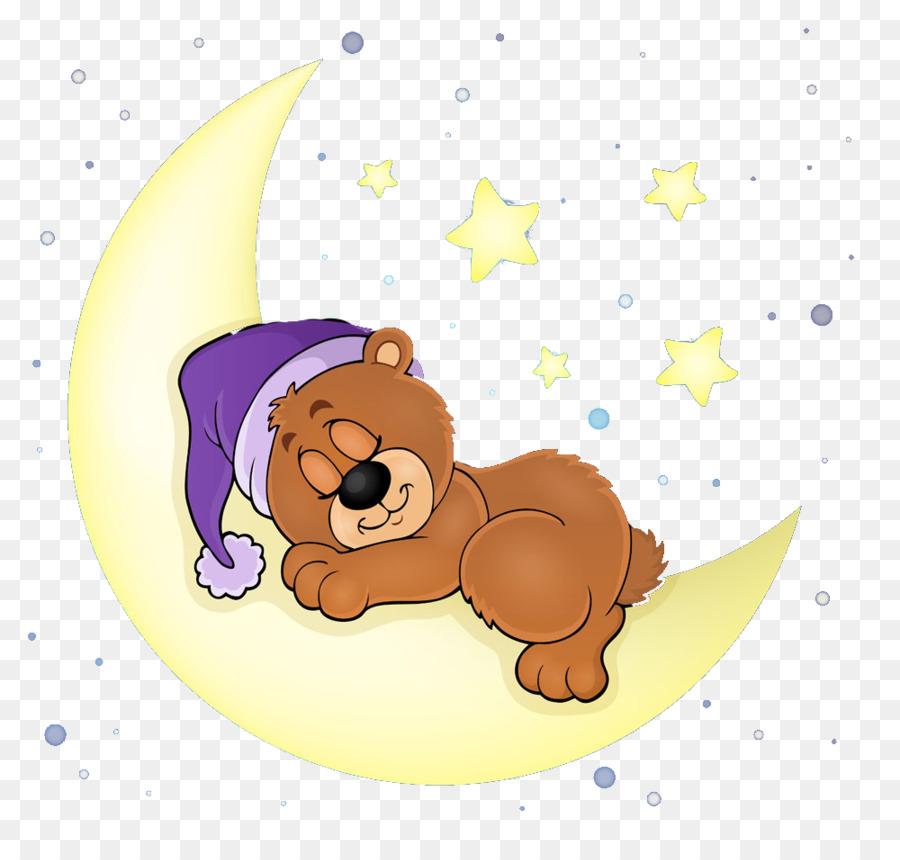Bear Sleep Illustration Sleeping Bear Png Download