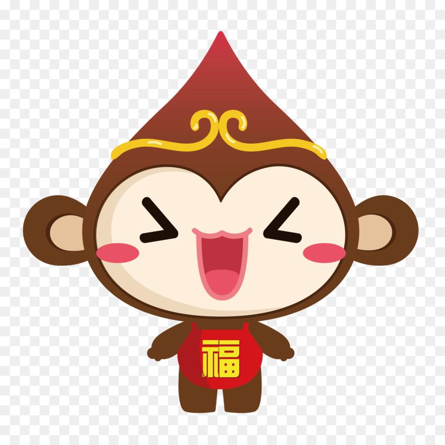 Ape Monkey - Vector cute monkey