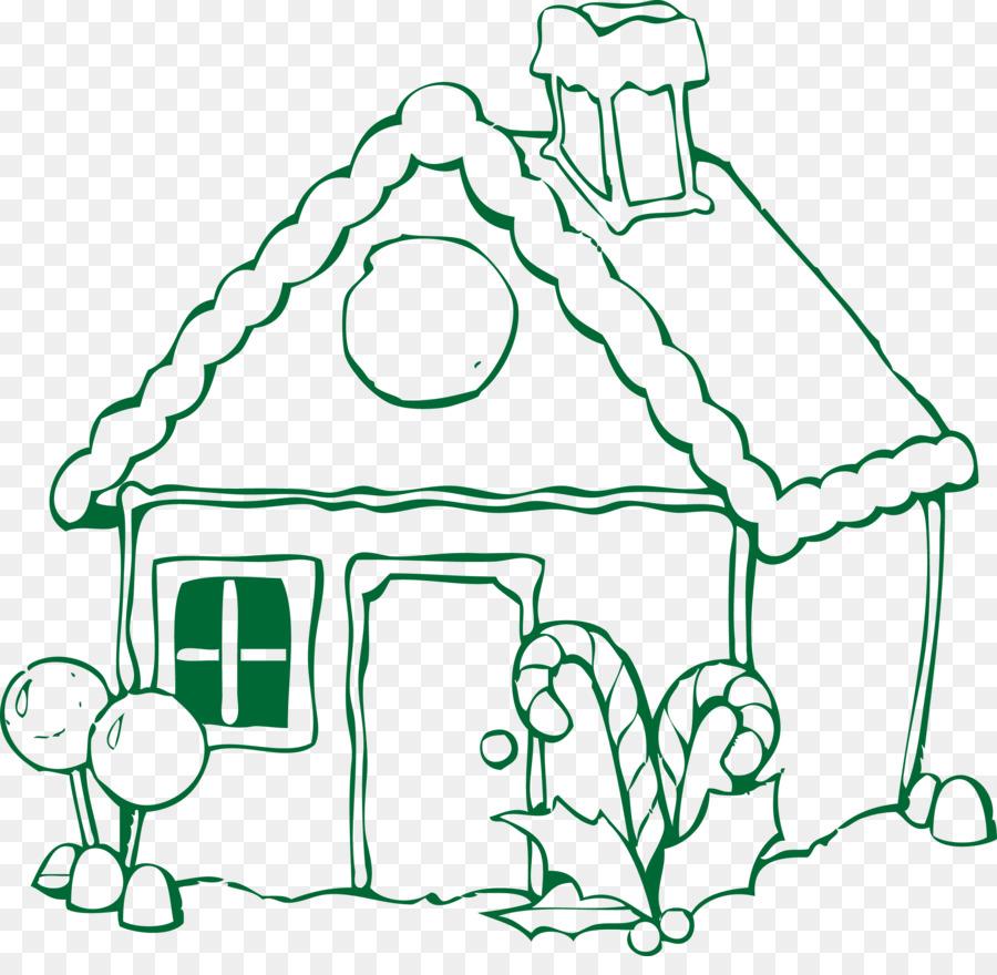 Rumah Roti Jahe Gingerbread Man Mewarnai Buku Lucu Kartun Vektor
