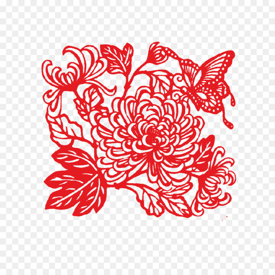 Papercutting chinese paper cutting double ninth festival papercutting chinese paper cutting double ninth festival chrysanthemum chrysanthemum bloom mightylinksfo