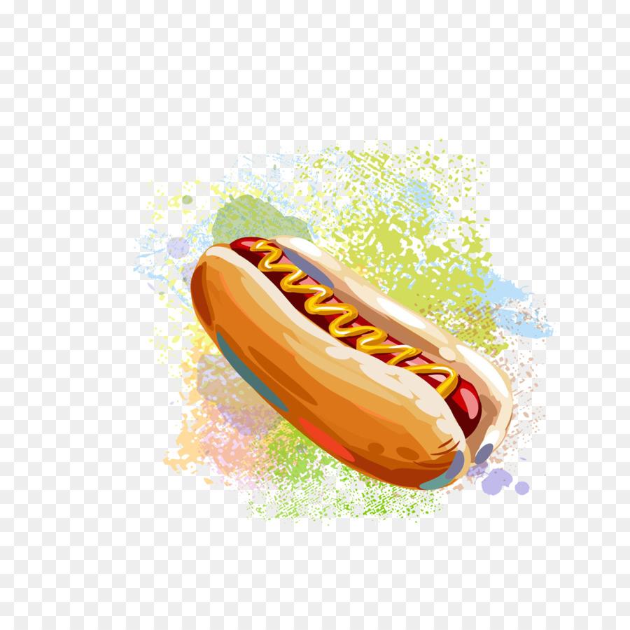Perro caliente Hamburguesa de comida Rápida, papas a la francesa ...