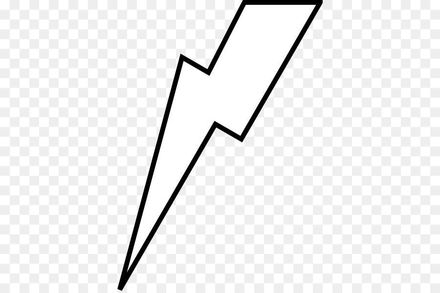 Lightning Bolt White Clip Art