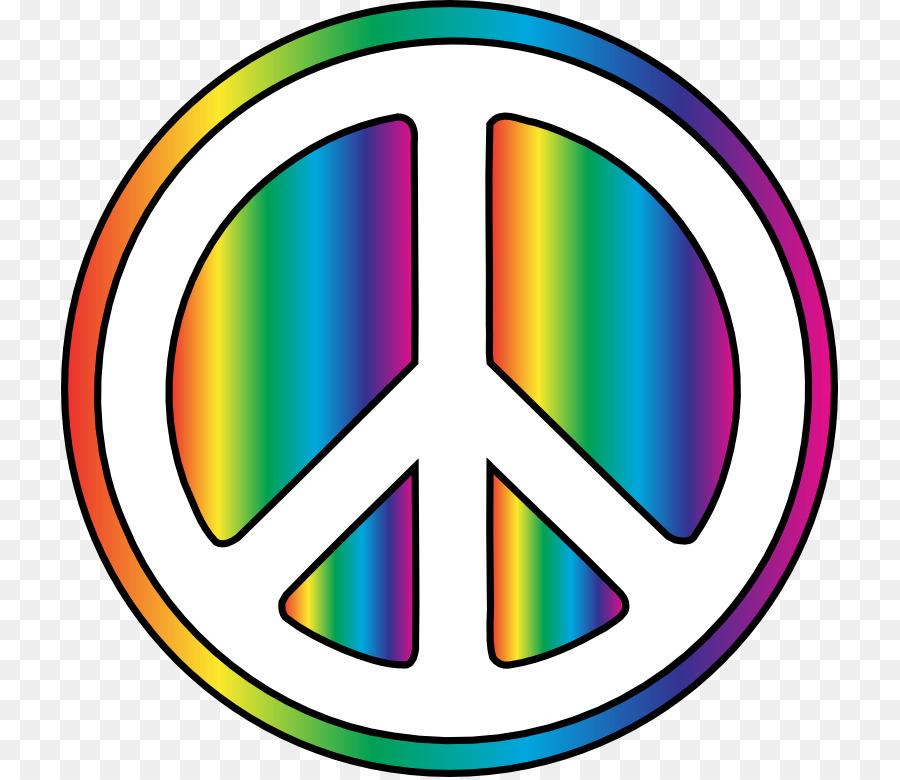 1960s Hippie Flower Power Peace Symbols Clip Art 90s Cliparts Png