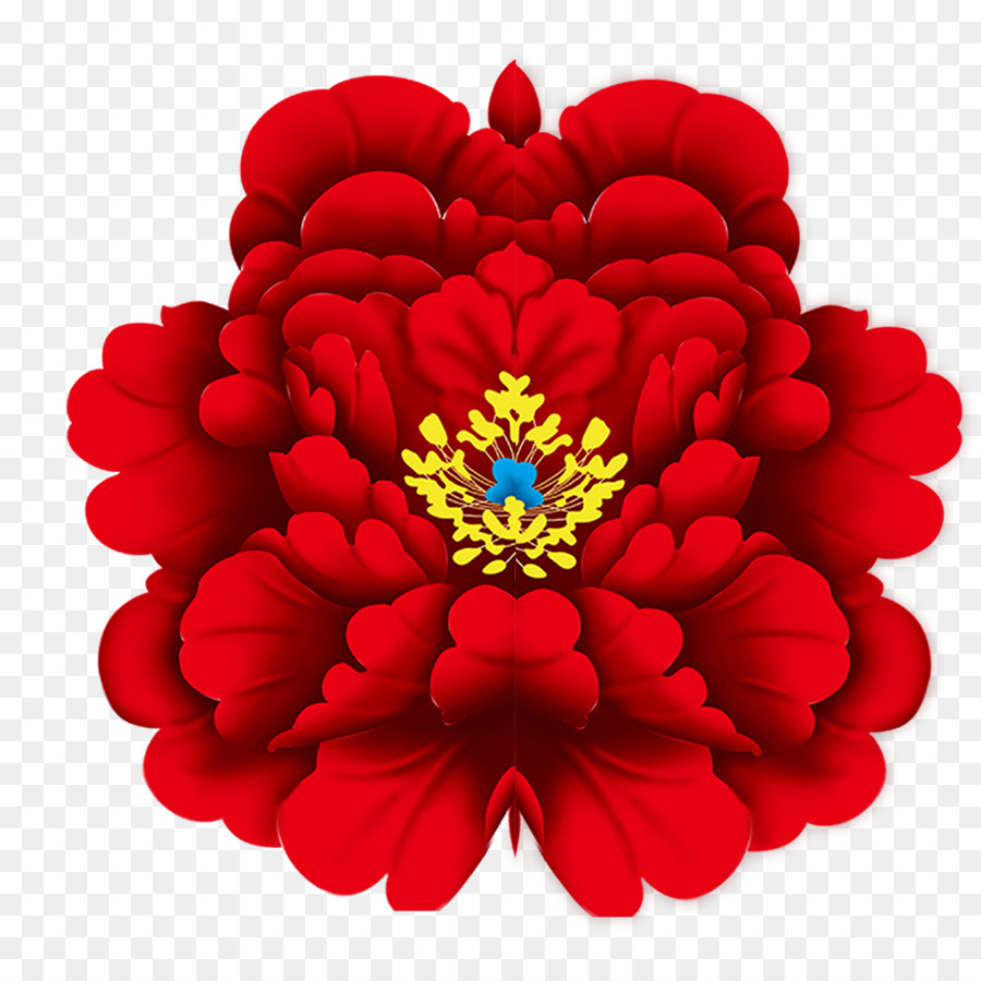 moutan peony chinese new year download - red peony png download