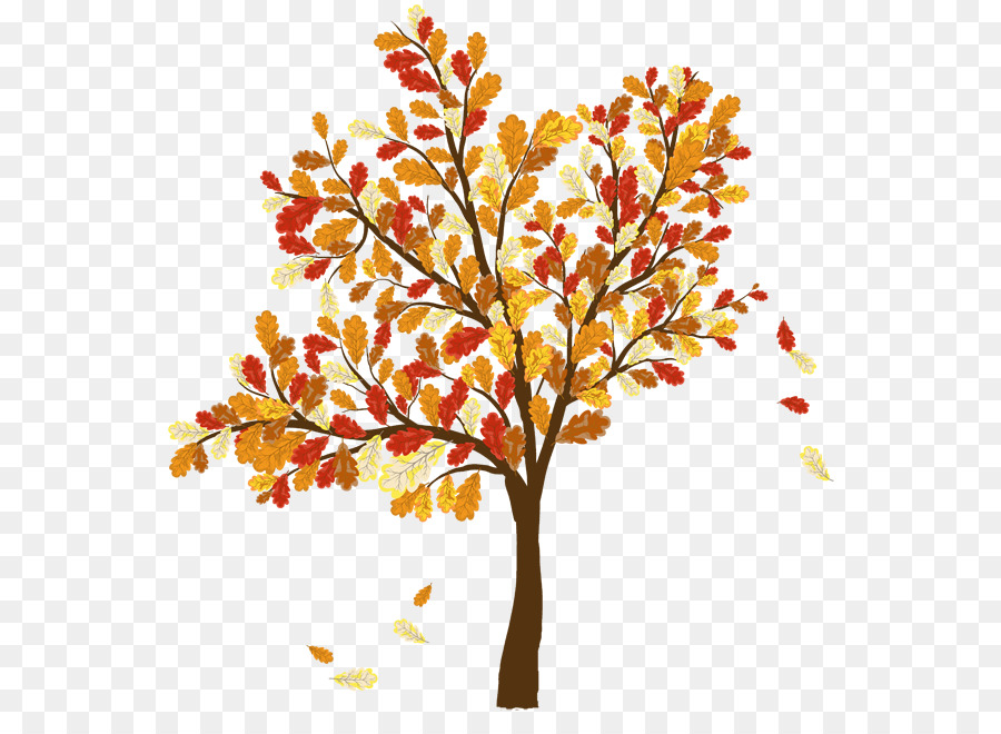 autumn leaf color tree clip art fall banner cliparts png download