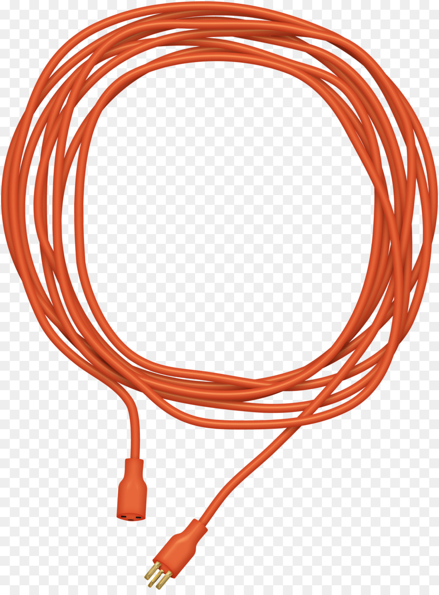 Extension cord Electrical cable Clip art - Wound into a circular red ...