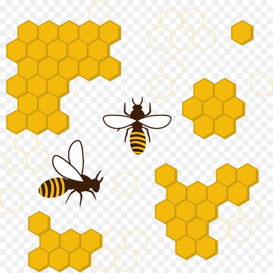 Honey Bee Honeycomb Insect Clip Art