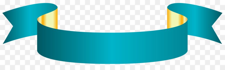 Ideal White ribbon Banner Clip art - Turquoise Banner Cliparts png  BV15