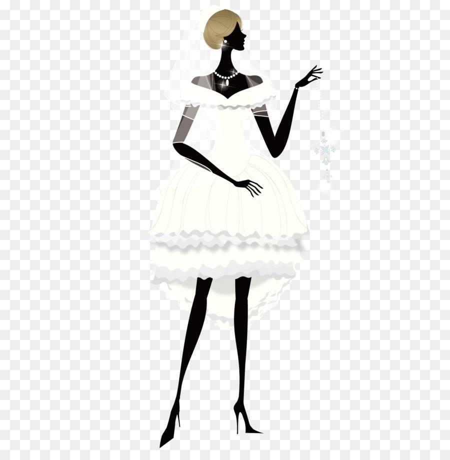 Pernikahan Putih Gaun Pengantin Pengantin Yang Indah Png Unduh