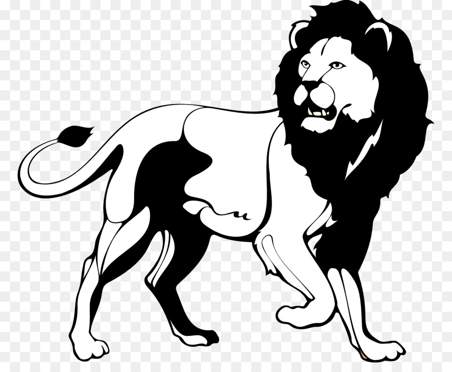 Lion Black And White Roar Clip Art Black Lion Cliparts Png
