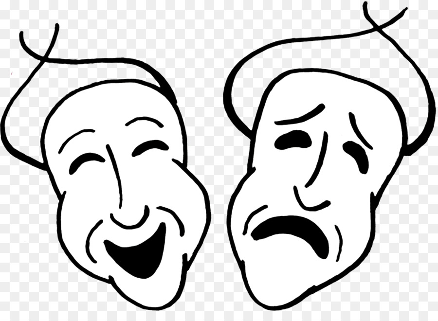 Tragedy Mask Comedy Drama Clip Art Comedy And Tragedy Masks Png Rh Kisspng  Com