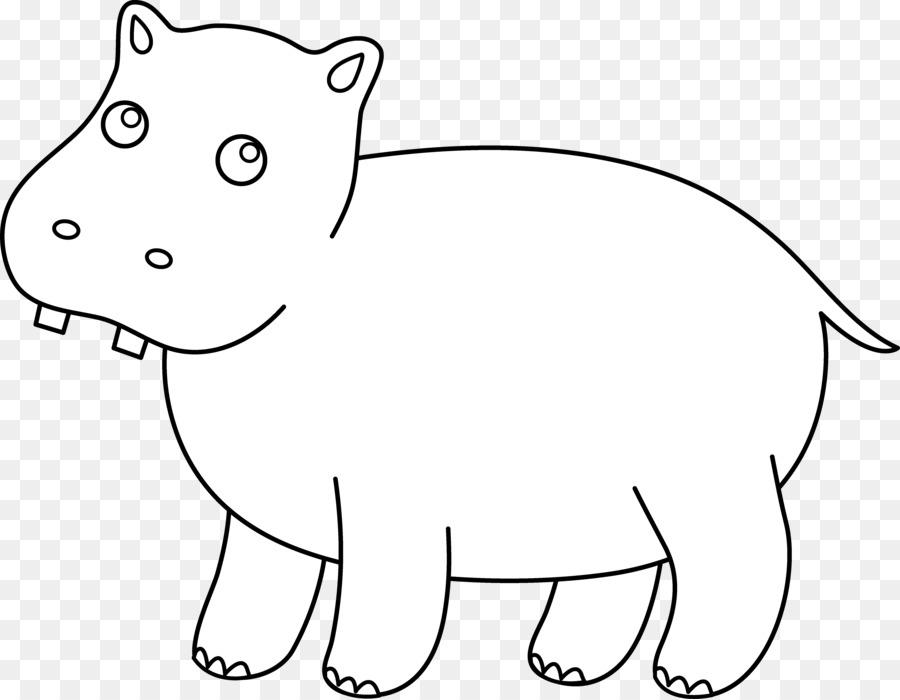 Hipopótamo libro para Colorear Bigotes Niño Clip art - Hipopótamo De ...