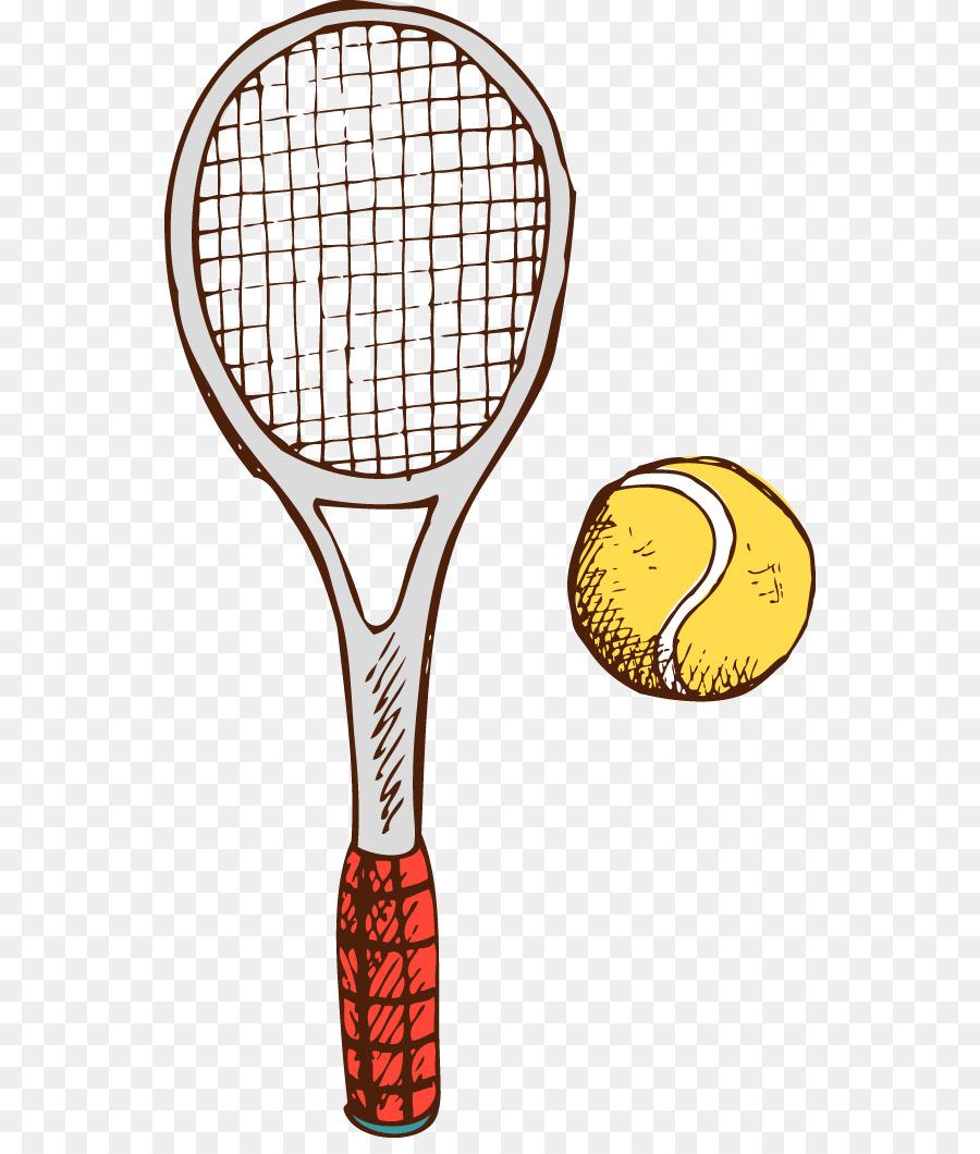 Racket Tennis Rakieta Tenisowa Vector Cartoon Tennis Racket Png