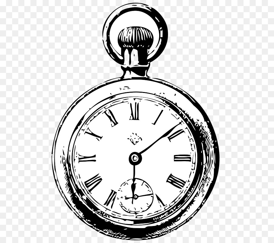 Alarm Clock Drawing Pocket Watch Cute Pocket Cliparts Png Download