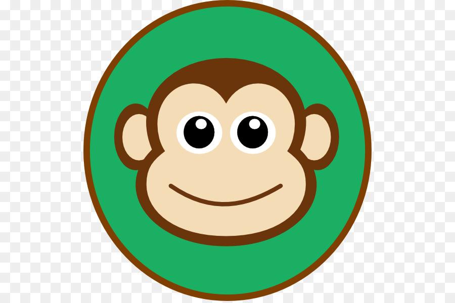 Monkey Cartoon Drawing Face Clip art - Cute Monkey Clipart