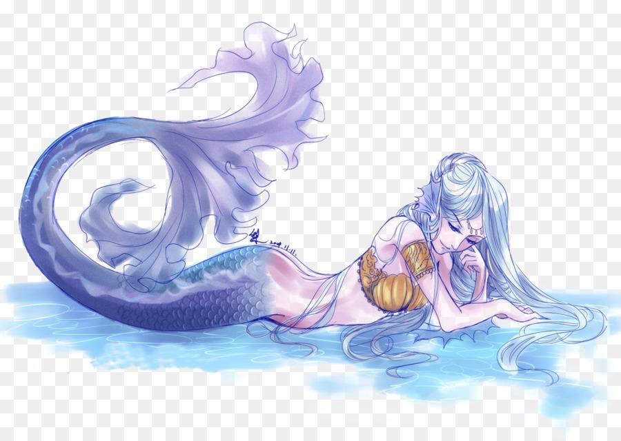 Archeage Küçük Deniz Kızı Renkli El Boyaması Deniz Kızı Png Indir