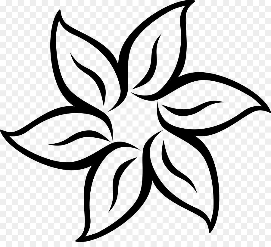 Flower black and white design. Png download free transparent