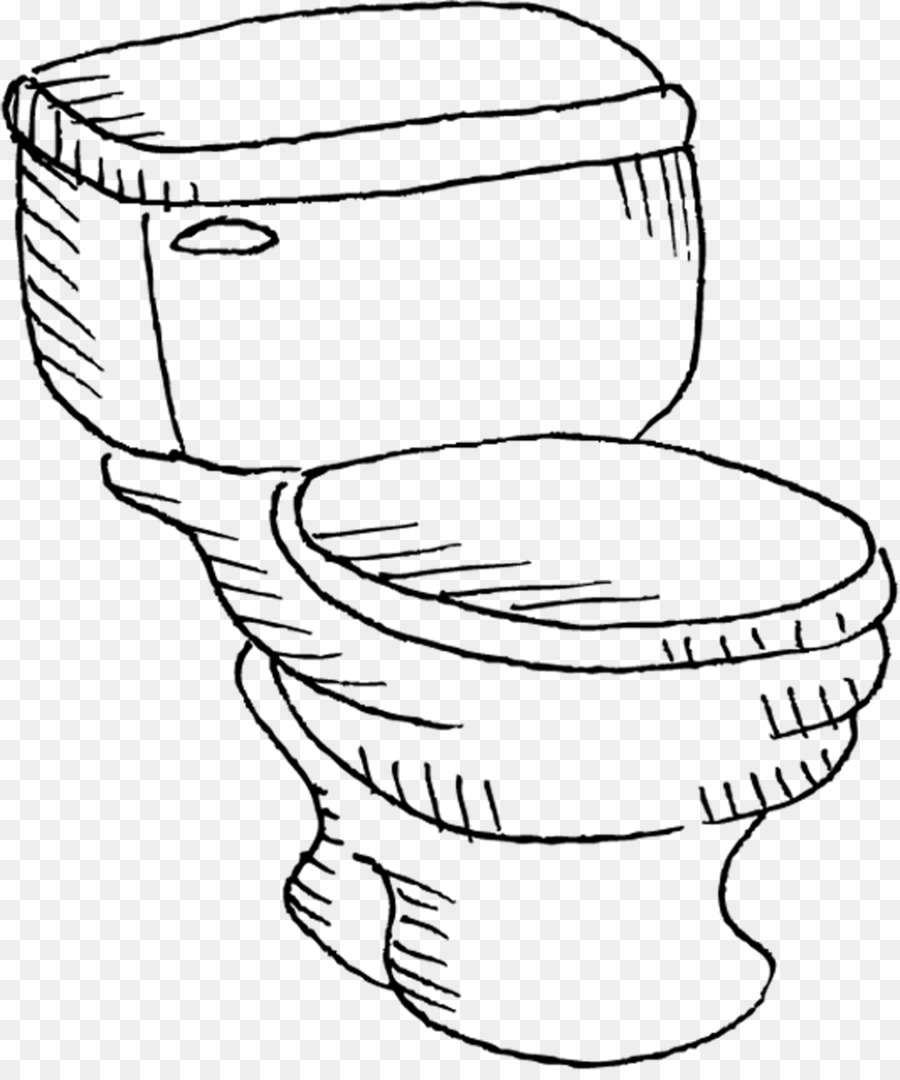Toilet Seat Line Art Cartoon