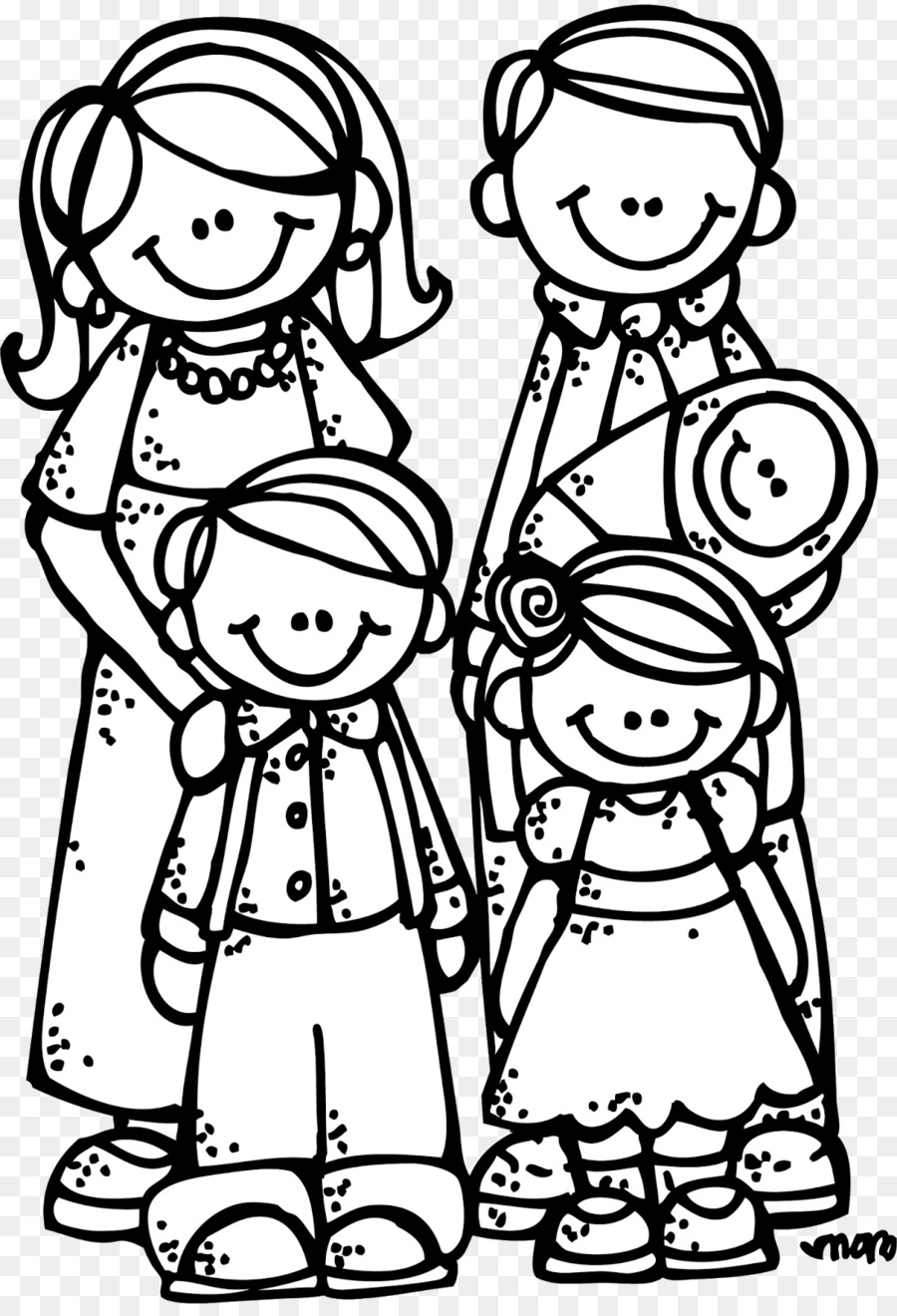 family praying clipart black and white - HD 1101×1600