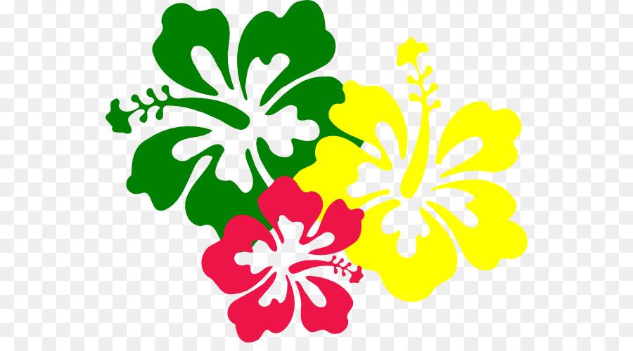 Hawaiian Hibiscus Flower Clip Art Hawaiian Cartoon Cliparts Png